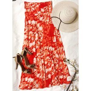 Flattering Floor-Length Tie-Died Maxi Skirt